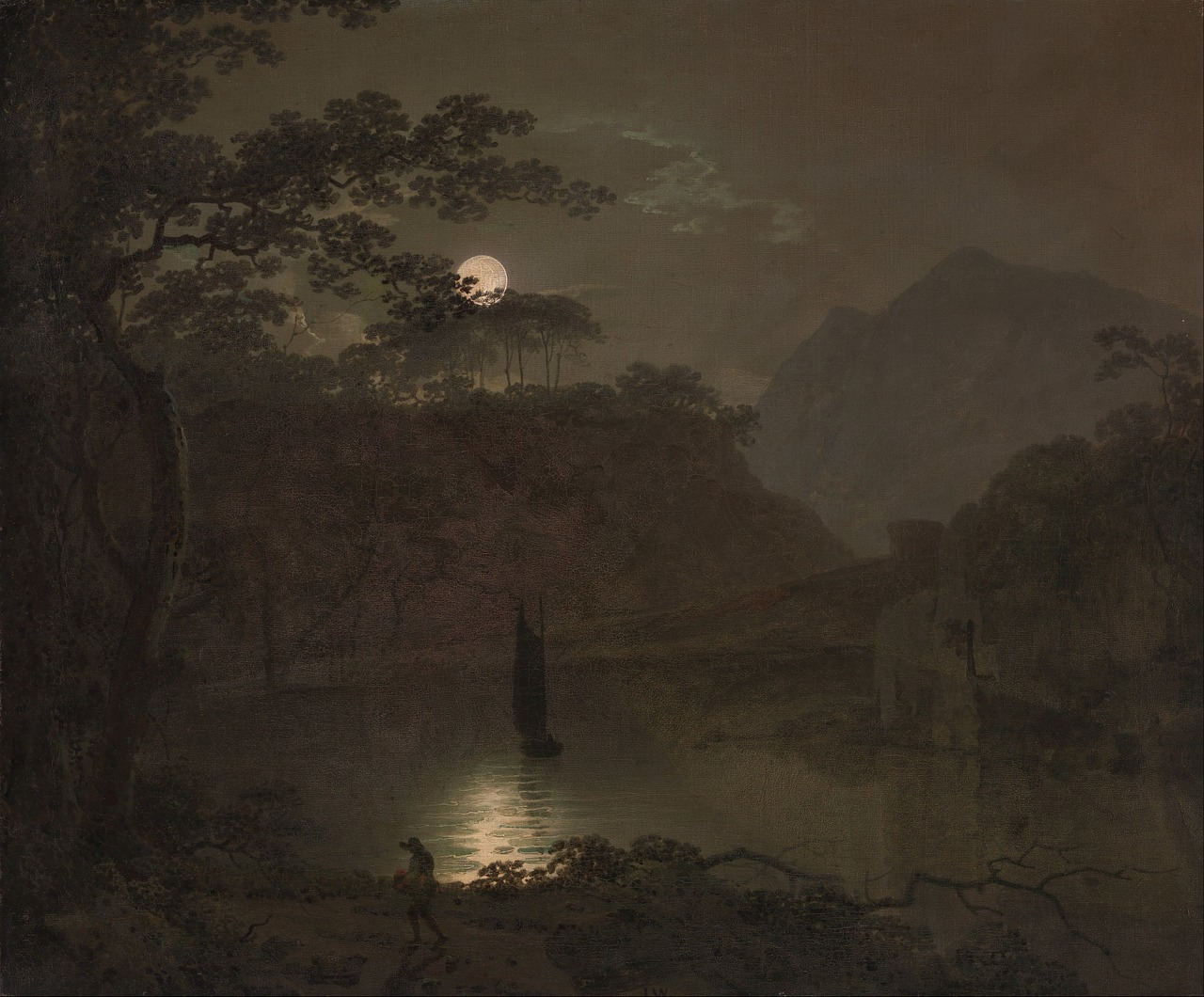 Full Moon - sweet eery joseph-wright-81532_1280